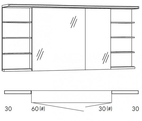 Marlin Bad 3160 - Motion Spiegelschrank 150 cm breit SOBSR63R/SOBSR63RLS