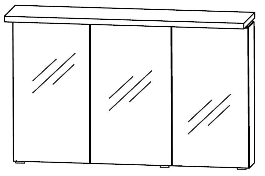 Puris wow spiegelschrank 110 cm breit s2a431a2f badm bel 1 for Spiegelschrank 30 cm breit
