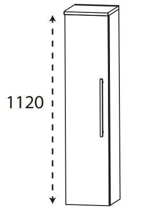 Puris Protection1 - Mittelschrank MNA713A01 L/R / 30 oder 40 cm