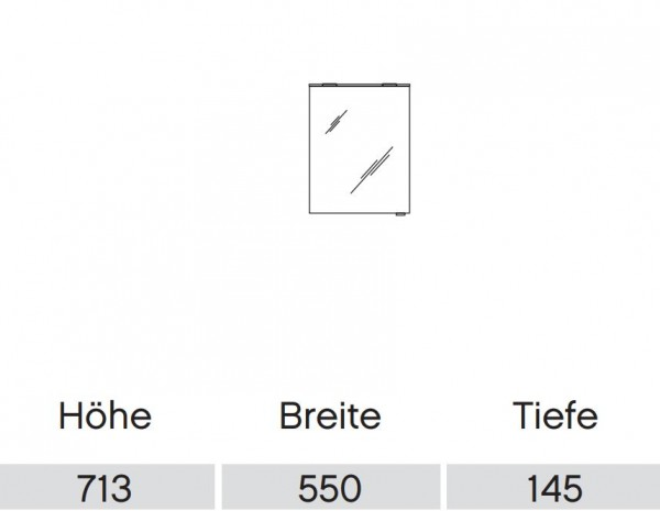 Pelipal Solitaire 6910 Spiegelschrank mit LED-Lichtkranz / 55 cm breit