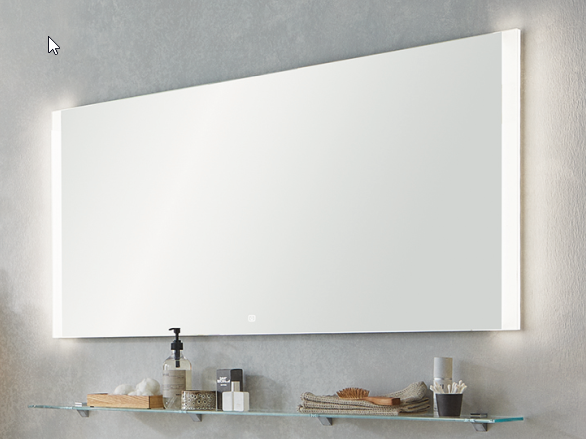 Puris Xpression - Flächenspiegel - 60 cm / LED rechts und links