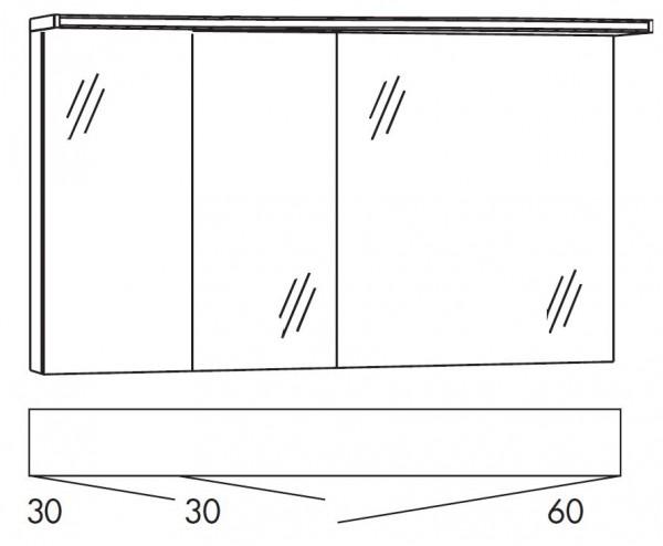 Marlin Bad 3160 - Motion Spiegelschrank 120 cm breit SOBS336