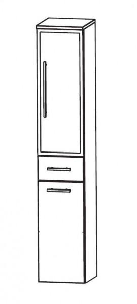 Puris WoW Bad-Hochschrank mit Wäschekippe 30 cm breit HNA053BW