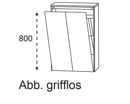 Puris Unique Bad-Highboard mit Wäschekippe 62,2 cm breit HBA516AWG