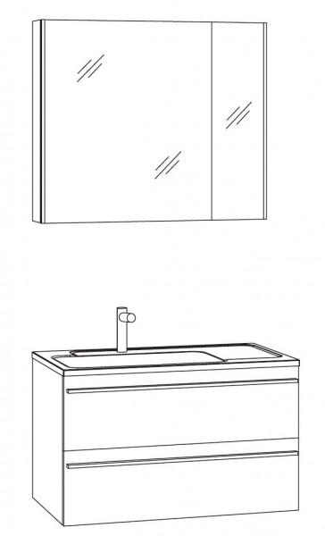 Marlin Bad 3250 Badmöbel Set 80 cm breit, mit 2 Auszüge