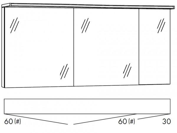 Marlin Bad 3160 - Motion Spiegelschrank 150 cm breit SOBS663