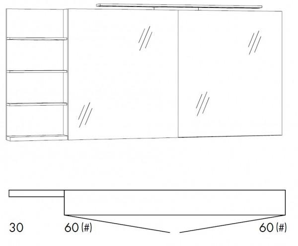 Marlin Bad 3160 - Motion Spiegelschrank 150 cm breit SFLSR66/SFLSR66LS/SFLZR66/SFLZR66LS
