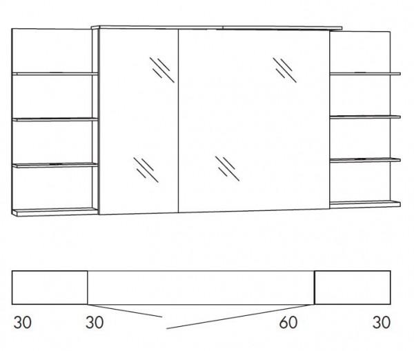 Marlin Bad 3160 - Motion Spiegelschrank 150 cm breit SAOSR63R/SAOSR63RLS/SAOZR63R/SAOZR63RLS