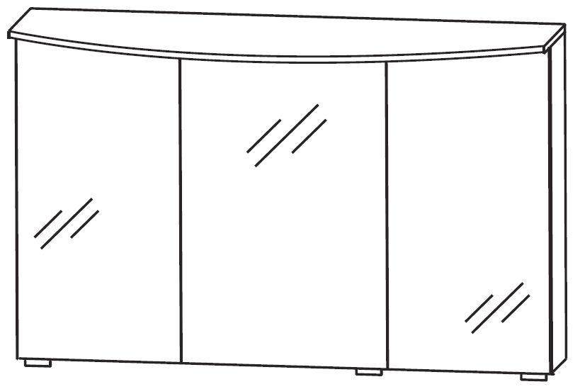 puris vuelta spiegelschrank 120 cm breit s2a432s3 badm bel 1. Black Bedroom Furniture Sets. Home Design Ideas