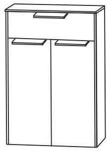 Puris d.light Bad-Highboard 62,2 cm breit HBA556AWD