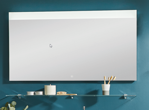 Puris Xpression - Flächenspiegel - 90 cm / LED oben