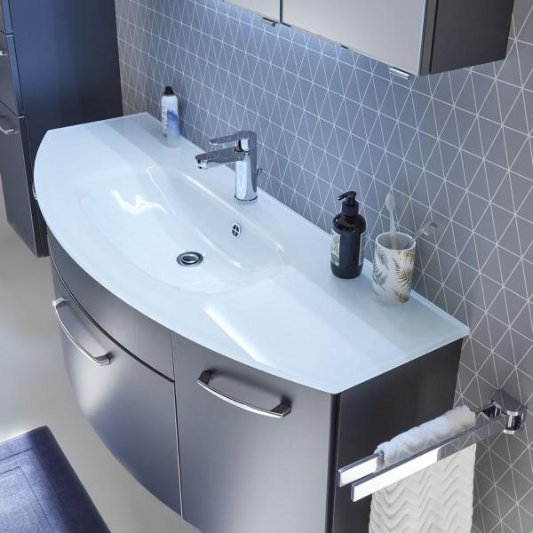 Pelipal Solitaire 6045 Glaswaschtisch mit Unterschrank - 131 cm