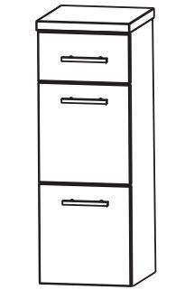 Puris Fine Line Bad-Highboard 40 cm breit HBA564A7M