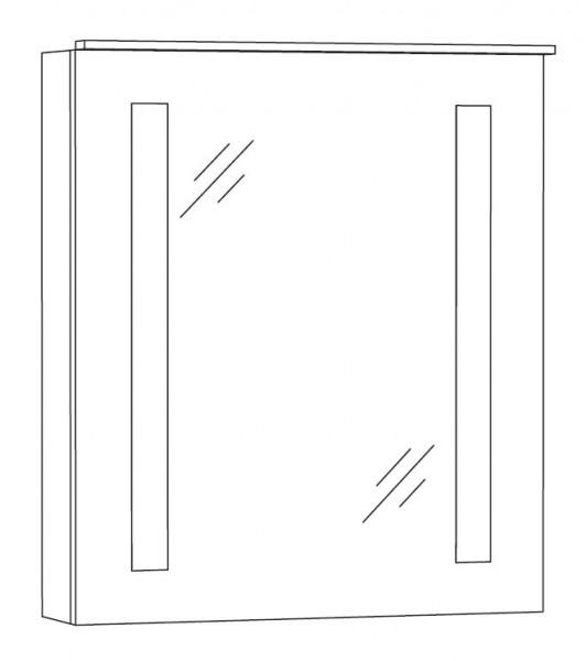 Marlin Bad 3130 - Azure Spiegelschrank 60 cm breit SFLS6 L/R