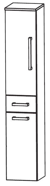 puris wow hochschrank mit w schekippe 30 cm breit hna053aw. Black Bedroom Furniture Sets. Home Design Ideas