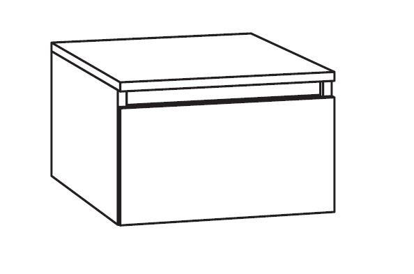 Marlin Bad 3290 Bad-Unterschrank mit Abdeckplatte 40 cm breit, variabel