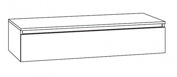 Marlin Bad 3290 Bad-Unterschrank mit Abdeckplatte 117 cm breit, variabel