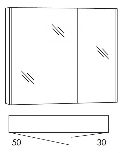 Marlin Bad 3290 Bad-Spiegelschrank 80 cm breit SADA8L / SADA8R