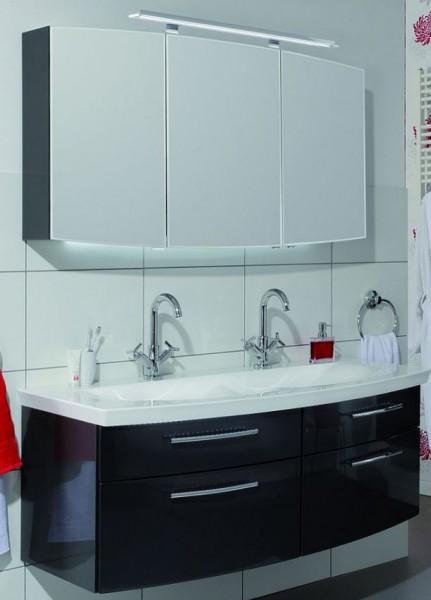 Puris Classic Line Badmöbel Set 140 cm breit - Doppelwaschtisch mit Unterschrank und Spiegelschrank