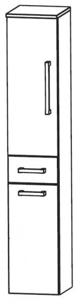 Puris Speed Bad-Hochschrank mit Wäschekippe 40 cm breit HNA054AW
