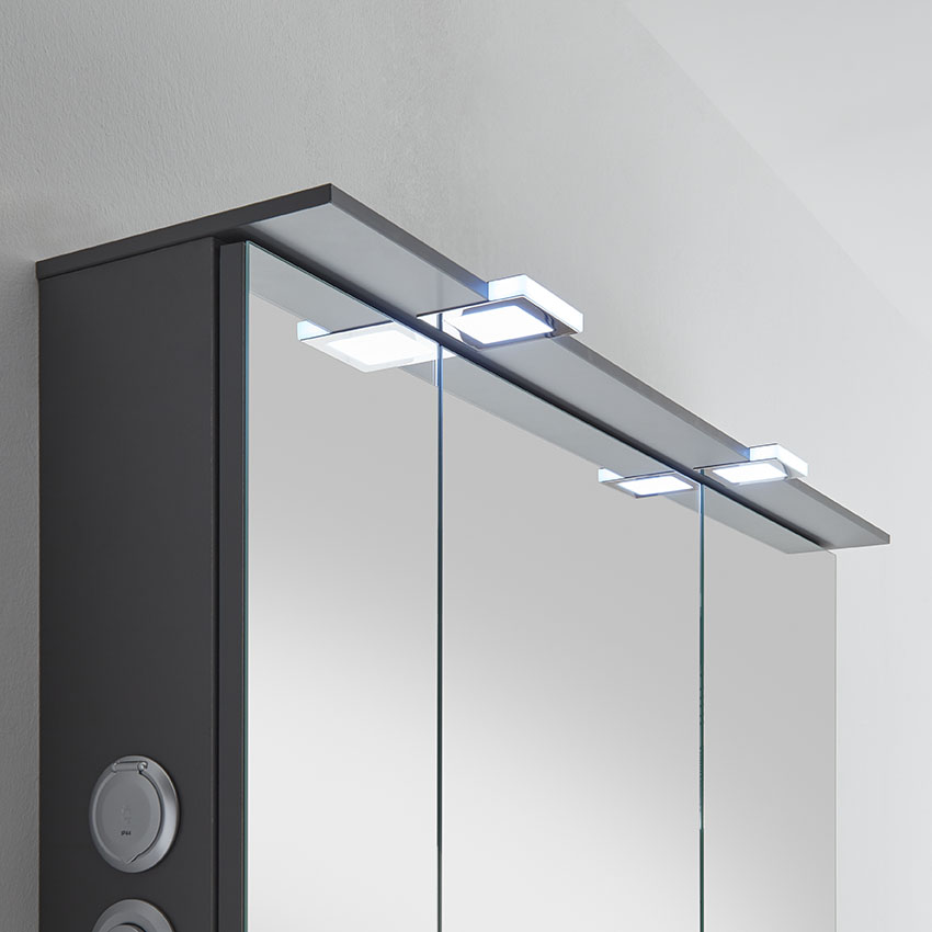pelipal solitaire 6910 spiegelschrank mit led lichtkranz 90 cm breit badm bel 1. Black Bedroom Furniture Sets. Home Design Ideas