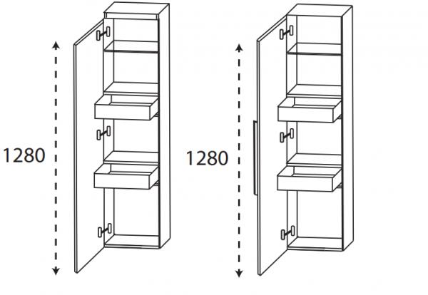 Puris 4Landa - Mittelschrank mit Innenschubkästen / 30 cm