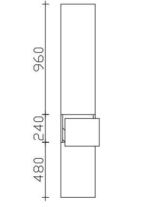 Pelipal Neutraler Bad-Hochschrank 2 Türen, 1 Auszug - Breite wählbar