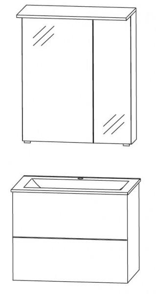 Puris Ice Line Badmöbel Set 62 cm breit kombinierbar