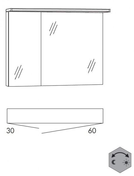 Marlin Bad 3090 - Cosmo Spiegelschrank 90 cm breit SSAOZ36 / SSAOZ63