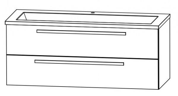 Puris Star Line Waschtisch mit Unterschrank 140,6 cm breit – Glas, Einzelbecken oder Doppelbecken