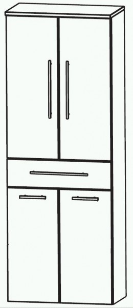 Puris Swing Bad-Hochschrank mit Wäschekippe 60 cm breit HNA056A7W