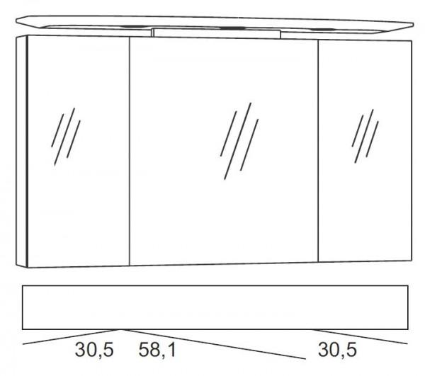 Marlin Bad 3040 - CityPlus Spiegelschrank 120 cm breit SPLR120D-4