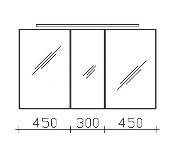 Pelipal Solitaire 6110 Spiegelschrank 120 cm breit 6110-SPS 04
