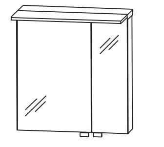 Puris 4Landa - Spiegelschrank Serie C/B - 60 cm