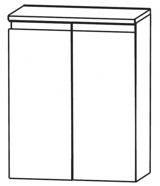 Puris Purefaction Bad-Highboard 60 cm breit HBA416W01 - mit Wäschekippe
