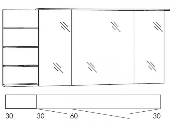Marlin Bad 3160 - Motion Spiegelschrank 150 cm breit SAOSR363/SAOSR363LS/SAOZR363/SAOZR363LS