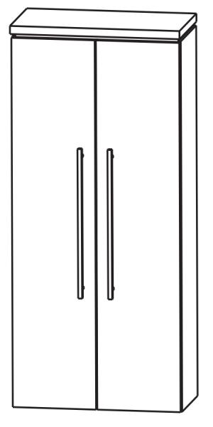 Puris Cool Line Bad-Mittelschrank 60 cm breit MNA816A5