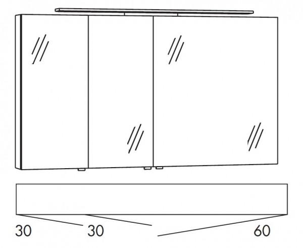 Marlin Bad 3160 - Motion Spiegelschrank 120 cm breit SFLS336/SFLZ336