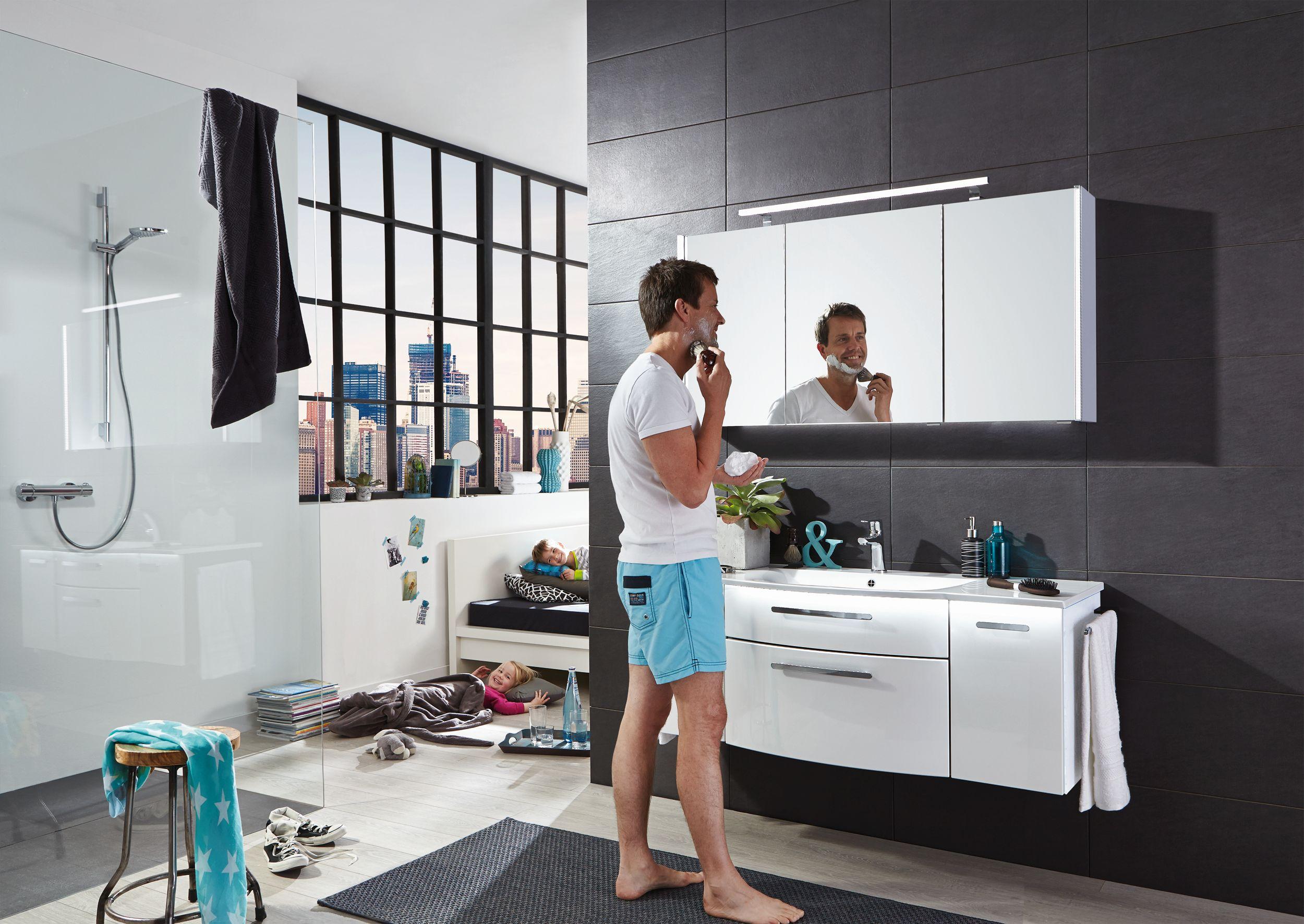 puris linea bad spiegelschrank 130 cm breit s2a431379 badm bel 1