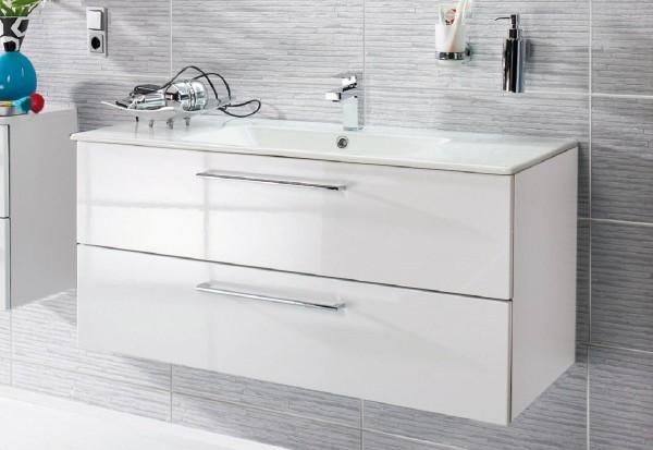 Puris Fresh Waschtisch mit Unterschrank 122 cm breit mit Keramikbecken