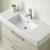 Keramik-Waschtisch, Farbe Weiß, 105 cm