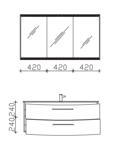Pelipal Solitaire 7025 Badmöbel Set 122 cm breit - Set 6.5. - Einzel