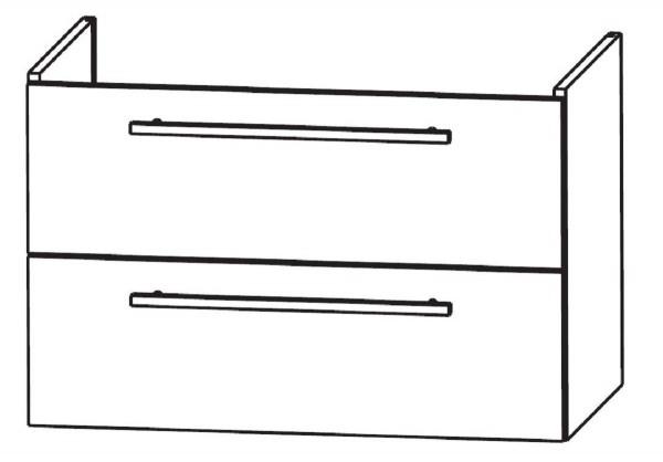 Puris Waschtischunterschrank für Keramag Smyle maßvariabel