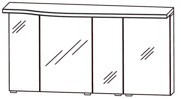 Puris Swing Spiegelschrank 120 cm breit SET40123R
