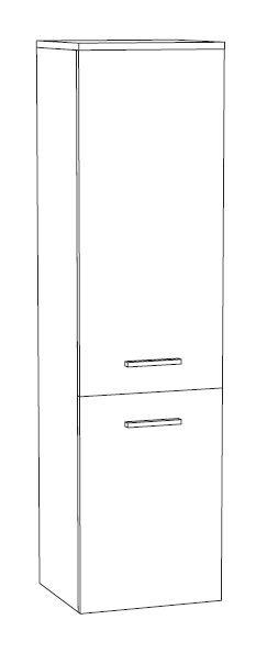 Marlin Bad 3090 - Cosmo Bad-Mittelschrank 30 cm breit MTT3F L/R
