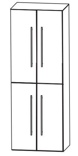 Puris Kao Line Bad-Hochschrank 60 cm breit HNA0360