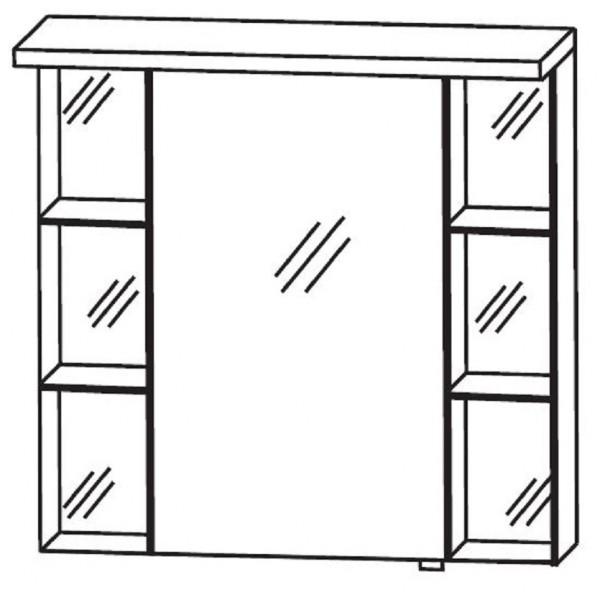 Puris Linea Bad-Spiegelschrank 70 cm breit S2A4270S1 L/R