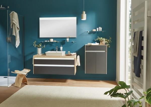 Puris Xpression - Badmöbel Set 122 cm / mit Flächenspiegel
