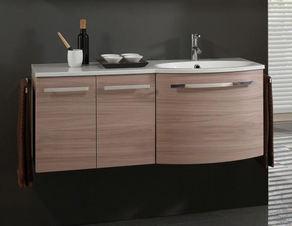 Marlin Bad 3090 – Cosmo Waschtisch mit Unterschrank 120,4 cm breit – Becken rechts