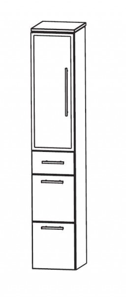 Puris WoW Bad-Hochschrank 30 cm breit HNA093B